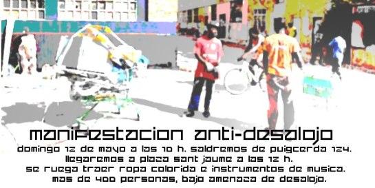 Manifestación Antidesalojo 12:05:2013