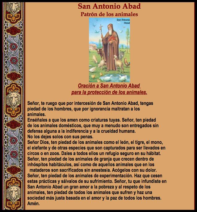 San Antonio Abad_Patrón de los animales