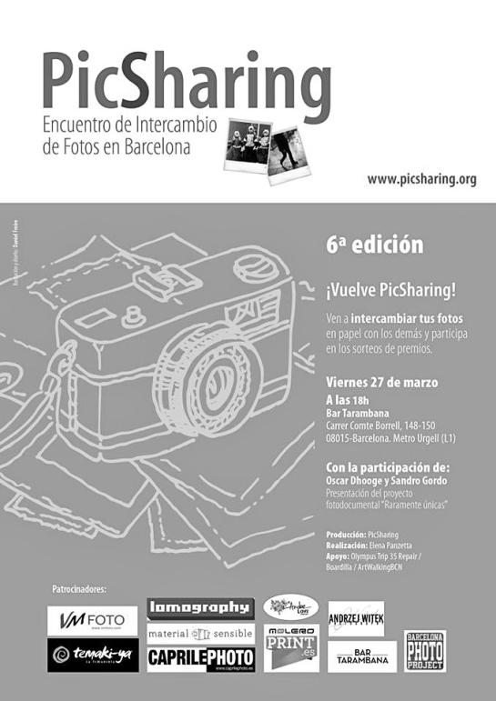 PicSharing 2015 Cartel Evento_Presentación Raramente Únicas